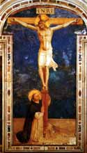 Fra Angelico, OP St. Dominic & Christ