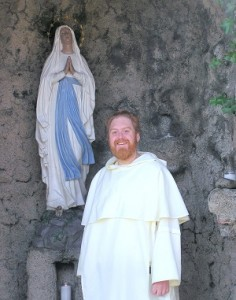 Fr. Michael at the Grotto  Photo Credit: K Mitchell