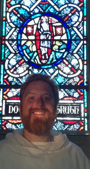 In front of the Ascension window in the Lady Chapel.  Credit: Cutler