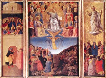 Pentecost, The Last Judgement, and the Ascension c. 1447-50.  Fra Angelico, OP