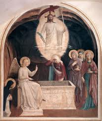 Resurrection of Our Lord by Fra Angelico.  Easter is a Solemnity