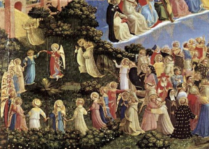 """Saints in Paradise,"" Fra Angelico."